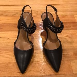 New Coach Garland leather pointy heels Sz 10